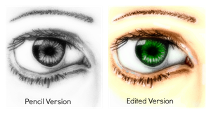 eye Drawing's (and edited) by deathlouis