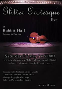 poster Glitter Grotesque live @ Rabbit Hall Athens by GaggedOceanid