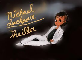 Michael Jackson Thriller Album Cover by lollypop081