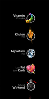 Sport Nutrition Icons by carl913