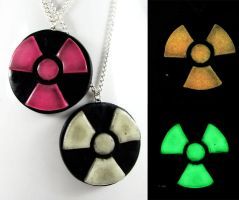 Radioactive Necklace by NeverlandJewelry