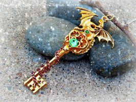 Golden Dragon Lord Key by ArtByStarlaMoore