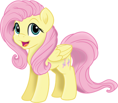 Fluttershy Sketch Vector by illumnious