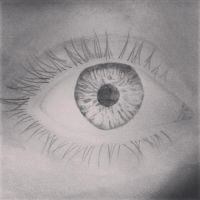 Realistic Eye Drawing by xTEAMGRIMMIExx