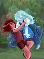 steven universe ruby and sapphire by OwlVortex