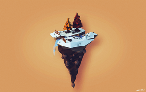 Floating Ice Island by UB18Aux