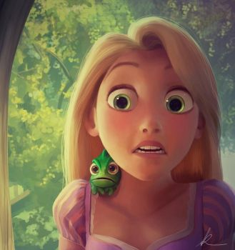 Rapunzel Digital Painting + Steps by nataliebeth
