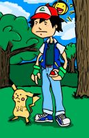 Satoshi and Pikachu by S-Unit