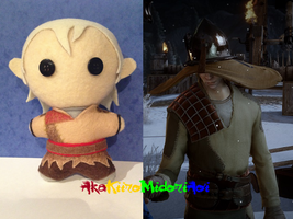 Dragon Age Plushes: Cole by AkaKiiroMidoriAoi