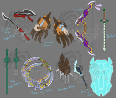 RWBY: CRLN and JADE Weapons by Zephyros-Phoenix