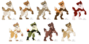Wolf Adoptables :CLOSED: by Point-Guide