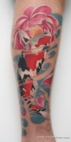 Koi fish tattoo by Remistattoo