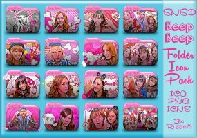 SNSD Beep Beep Folder Icon Pack by Rizzie23