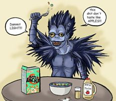 Death Note - Ryuk's outrage by -babykefka-