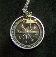 Steampunk Compass by mymysticgems