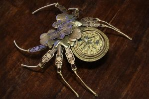 Steampunk Orichalcum Mechanica Folium Aranea by CatherinetteRings