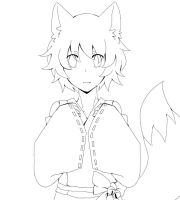 Fox Youkai -Lineart- by Sellleh