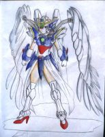 wing zero girl concept by karlonne