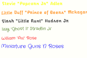 The Nicknames of Mini GNR by MKMoon-Mew-GNRFan