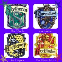 Hogwarts houses. by LubyLoo700