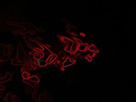 Liger in red light by WrenShimmamora