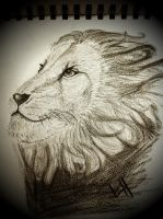 Lion Sketch by youngxsin