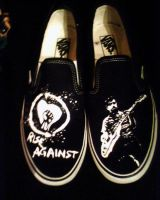 Rise Against shoes by ZoeAce