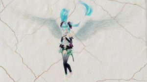 [MMD] Append Miku -wallpaper sized- by sailor-rice