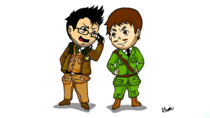 Hetalia Crossover: Markiplier and Yamimash by irukaluvsdumplings