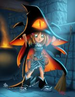 Halloween Girl - Witch - Final by Dhutchison