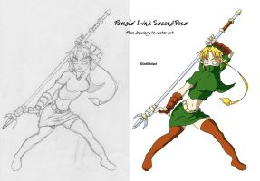 Female Link Second Pose by linkofholland