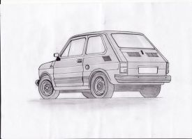 Fiat 126 Maluch - back xD by daughter-of-chaos92