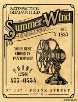 Summer Wind Vintage Ad by roberlan