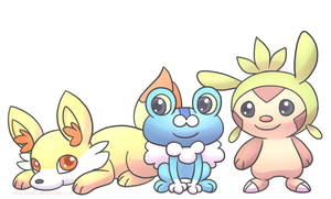 Gen 6 starters by chibiphlosion