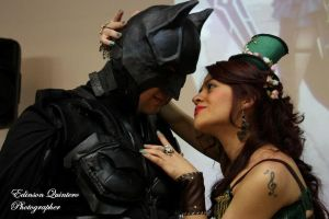 batman y poison by laurakyonlee