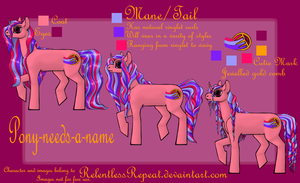 Pony-needs-a-name! (Help wanted) by RelentlessRepeat