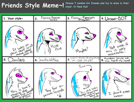 Ice's Friends Style Meme! by Ice-Artz