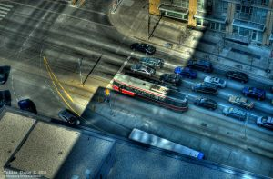 Streetcar from Above by tobiasgong