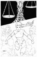 The Four Points #4 cover C inks by Arciah