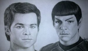 Jim and Spock by yamihoole