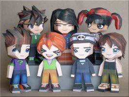 Paperpokes Team Papercraft by Skele-kitty