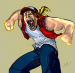 terry bogard colored by namorsubmariner