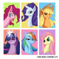 Pony Portraits by DragonBeak