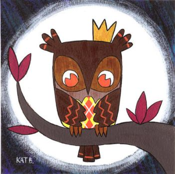Owl King for Owltober by fuish