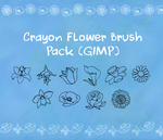 Crayon Flower Brush Pack by happy-smiley-robot