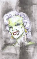Marilyn Monroe Zombie by ChrisOzFulton