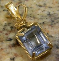 Blue quartz in gold by DPBJewelry