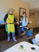 Yellow and Korra cosplays! by Arrowfoot