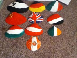 all the shells with flags on them by lisabean