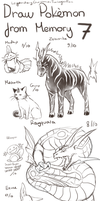 Draw Pokemon From Memory 7 by ShadeofShinon